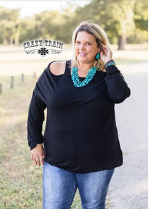 Pow Wow Black Top - Sister Tribe Boutique