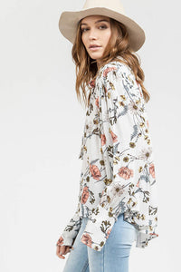 Floral Woods Top - Sister Tribe Boutique