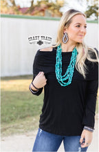 Load image into Gallery viewer, Pow Wow Black Top - Sister Tribe Boutique