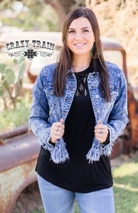 Denim Darlin' Jacket - Sister Tribe Boutique