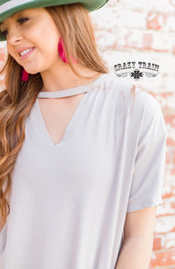 Cream Textline Top - Sister Tribe Boutique