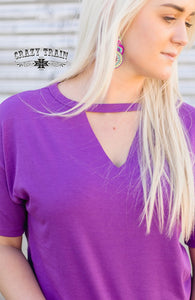 Purple Textline Top - Sister Tribe Boutique