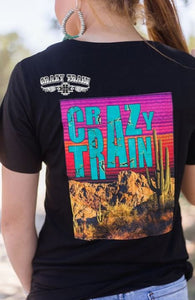 Yosemite Crazy Train Vneck - Sister Tribe Boutique