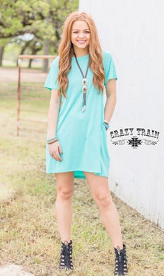 Turquoise Dress by Crazy Train - Sister Tribe Boutique