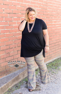 Camo Bell Pants - Sister Tribe Boutique