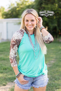 Brown Hide Girl Baseball Tee - Sister Tribe Boutique