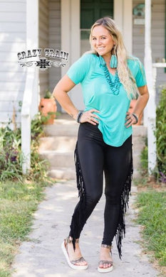 On the Fly Fringe Skinnies - Sister Tribe Boutique