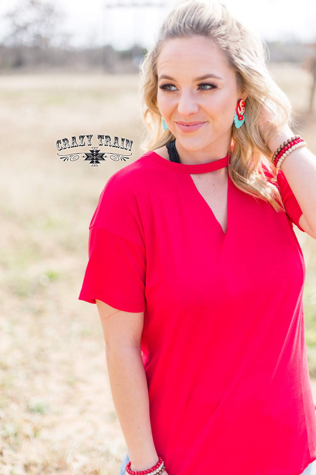 Red Textline Top - Sister Tribe Boutique