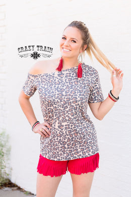 Leopard Tilt Top - Sister Tribe Boutique