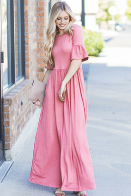 Bell Sleeve Maxi Dress - Sister Tribe Boutique