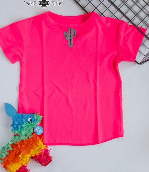 Poppin Pink Kids Textline Top - Sister Tribe Boutique