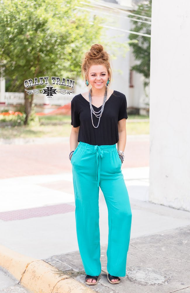 Palestine Turquoise Pants - Sister Tribe Boutique