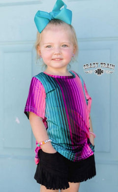 Girls Serape Knot Top - Sister Tribe Boutique
