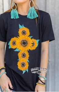 Flowers of Faith Tee - Sister Tribe Boutique