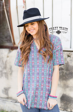 Urban Cowboy Textline Top - Sister Tribe Boutique