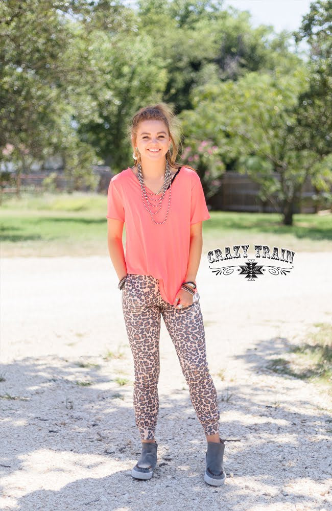 Jackwild Leopard Joggers - Sister Tribe Boutique