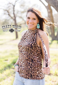 Leopard Steel Magnolia Top - Sister Tribe Boutique