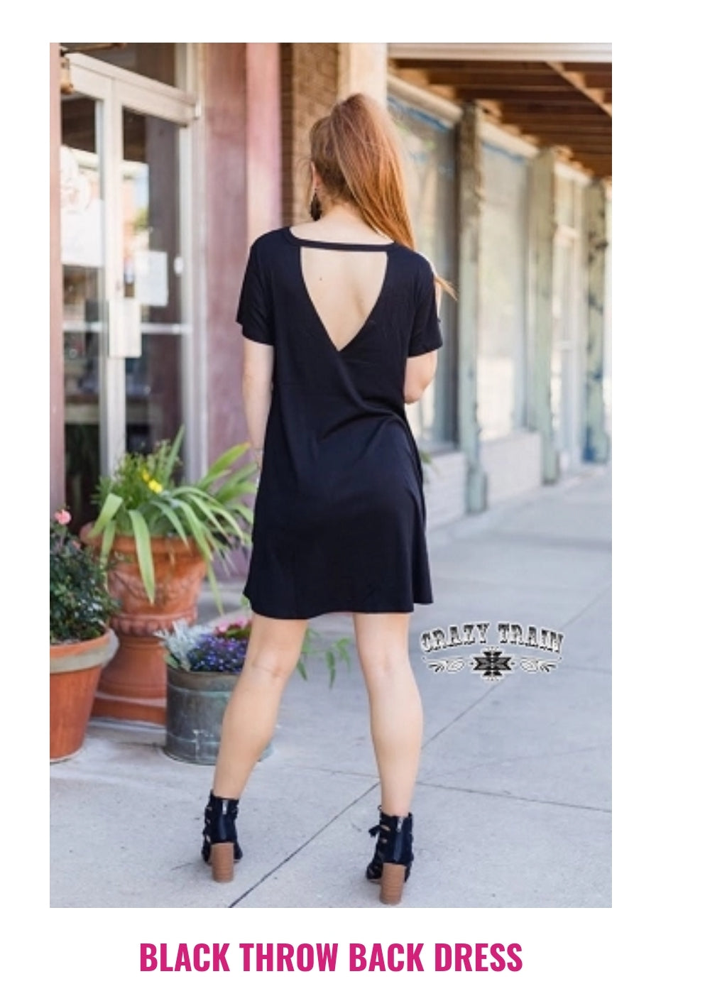 Black Throwback Dress - Sister Tribe Boutique
