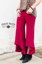 Load image into Gallery viewer, Wine Paltrow Pants - Sister Tribe Boutique