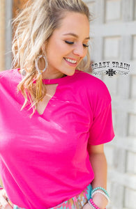 Pink Textline Top - Sister Tribe Boutique
