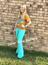 Load image into Gallery viewer, Turquoise Bell Air Flares - Sister Tribe Boutique