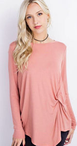 Salmon Side Knot Top - Sister Tribe Boutique