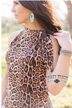 Load image into Gallery viewer, Leopard Steel Magnolia Top - Sister Tribe Boutique