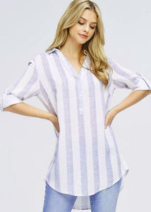 Stripe Tunic - Sister Tribe Boutique