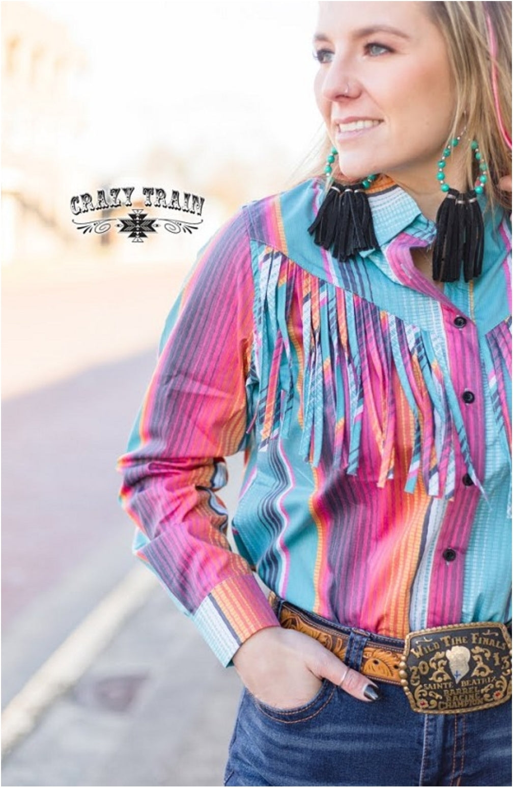Rodeo Rig Serape Button Up - Sister Tribe Boutique
