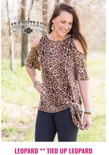 Load image into Gallery viewer, All Tied Up Cold Shoulder Knotty - Sister Tribe Boutique