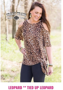 All Tied Up Cold Shoulder Knotty - Sister Tribe Boutique