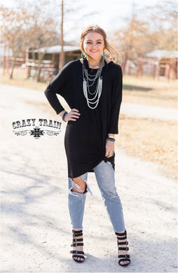 Black Pico Top - Sister Tribe Boutique