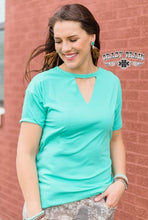 Load image into Gallery viewer, Teal Textline Top - Sister Tribe Boutique