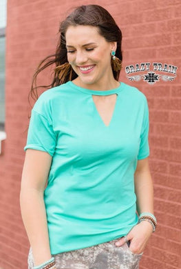 Teal Textline Top - Sister Tribe Boutique