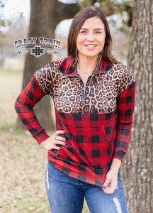 Leopard Jack Pullover - Sister Tribe Boutique