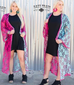 Taylor Dee Rose Duster - Sister Tribe Boutique