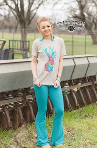 Teal Bell Air Flares - Sister Tribe Boutique