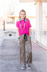 Leopard Casual Pants - Sister Tribe Boutique