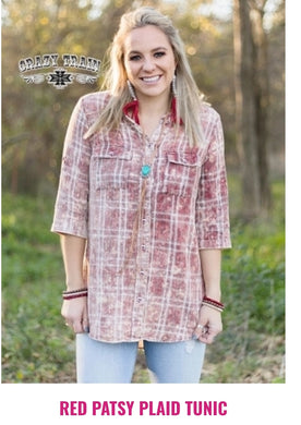 Patsy Plaid Tunic - Sister Tribe Boutique