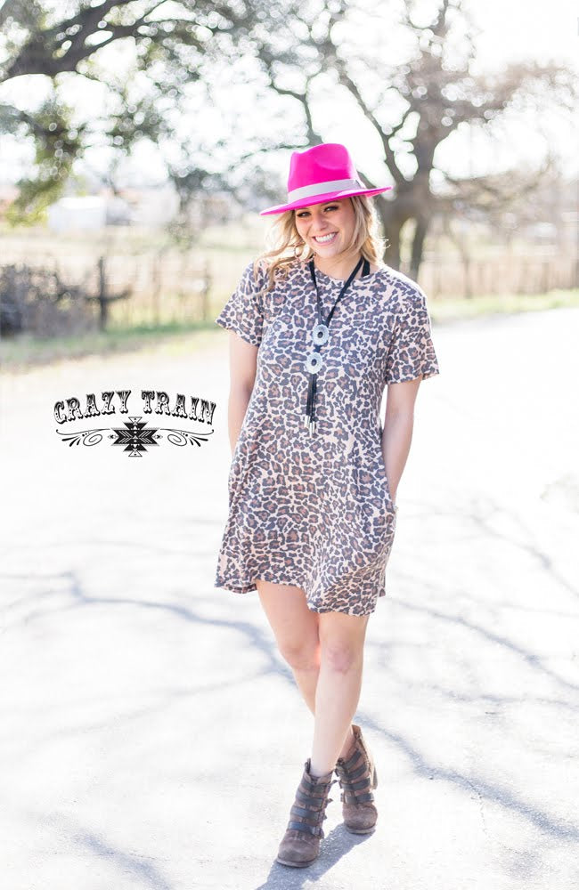 Dallas Leopard Pocket Dress - Sister Tribe Boutique
