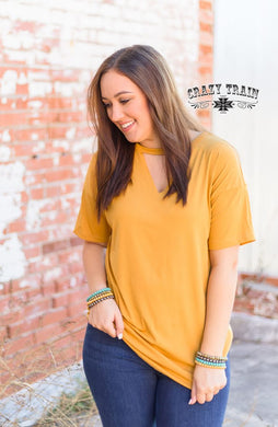 Mustard Textline Top - Sister Tribe Boutique