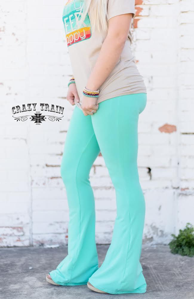 Turquoise Bell Air Flares - Sister Tribe Boutique
