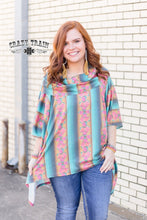 Load image into Gallery viewer, Serape Rose Poncho - Sister Tribe Boutique