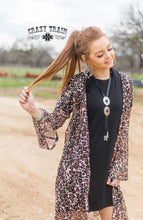 Load image into Gallery viewer, Leopard Rose Lace Duster - Sister Tribe Boutique