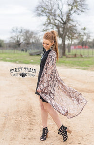 Leopard Rose Lace Duster - Sister Tribe Boutique