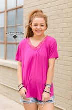 Load image into Gallery viewer, Very Fake Magenta Vneck - Sister Tribe Boutique