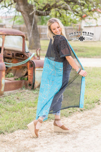 Turquoise Stone Duster - Sister Tribe Boutique
