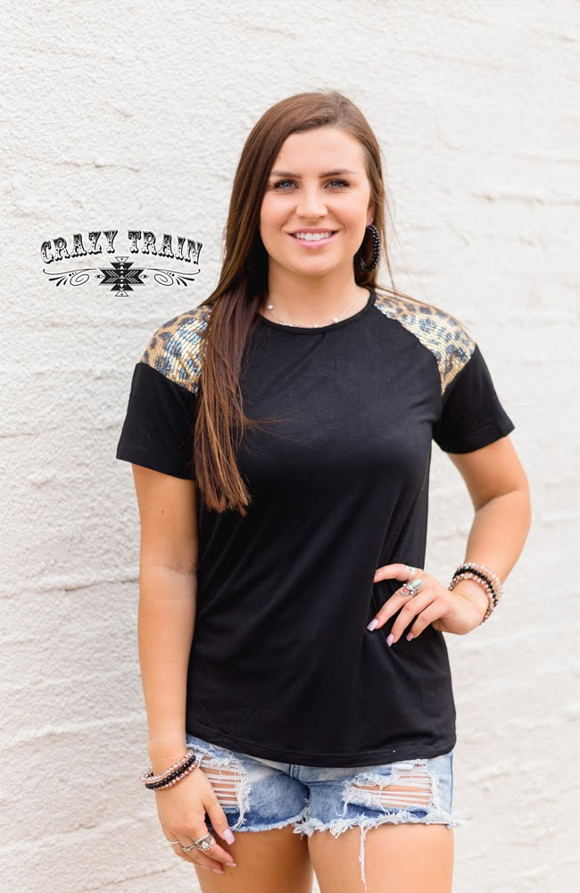 Leopard Queen Top - Sister Tribe Boutique