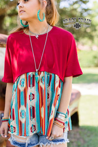 Red Rodeo Top - Sister Tribe Boutique