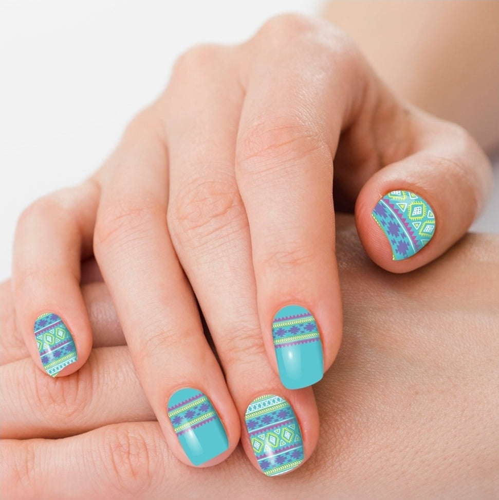 Navajo Turquoise Nail Polish Strips - Sister Tribe Boutique